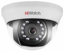 Внутренняя купольная HD-TVI видеокамера HiWatch DS-T201